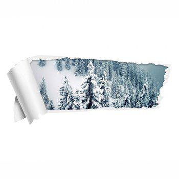 Removable Snow Forest 3D Wall Sticker -  COLORMIX