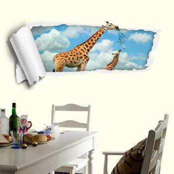Removable Floor Decal Giraffe 3D Wall Sticker - CLOUDY CLOUDY