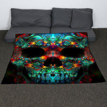 Halloween Colored Skull Printed Coral Fleece Blanket - COLORFUL W47INCH*L59INCH