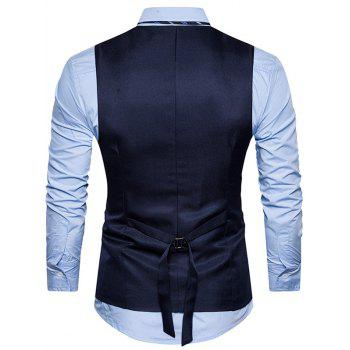 Single Breasted Belt Edging Waistcoat - M M
