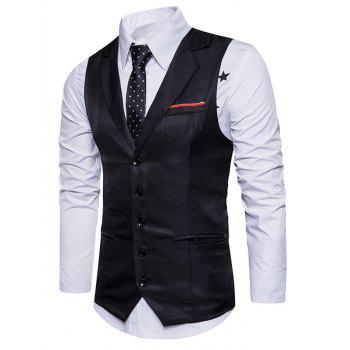 Single Breasted Belt Edging Waistcoat - XL XL