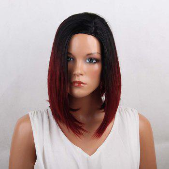 Medium Side Parting Straight Bob Ombre Synthetic Wig - COLORMIX COLORMIX