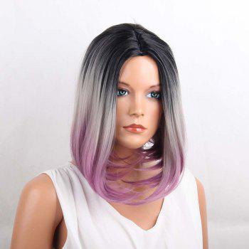 Medium Center Parting Straight Ombre Bob Synthetic Wig - COLORMIX COLORMIX