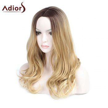 Adiors Long Ombre Center Parting Wavy Synthetic Wig - COLORMIX
