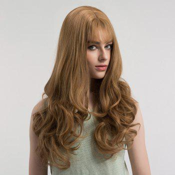 See-through Bang Fluffy Long Curly Synthetic Wig - LINEN PLATINUM LINEN PLATINUM