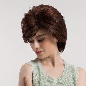 Side Bang Shaggy Straight Short Bob Colormix Synthetic Wig - COLORMIX