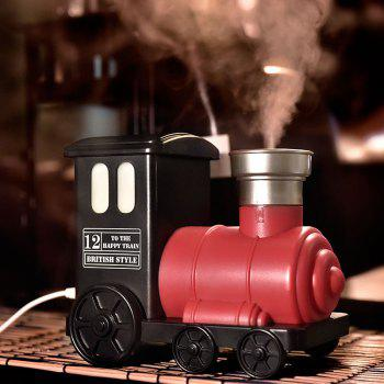 Train Shape USB Mini Humidifier with LED Colorful Light - RED RED