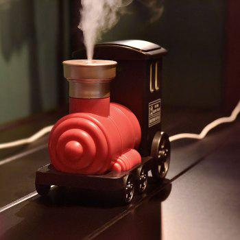 Train Shape USB Mini Humidifier with LED Colorful Light - RED