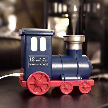 Train Shape USB Mini Humidifier with LED Colorful Light - BLUE