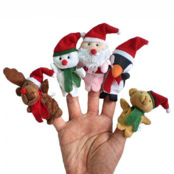 5 Pcs/Set Baby Plush Toy Christmas Finger Puppets - COLORFUL COLORFUL