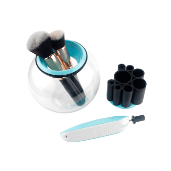 360 Degree Rotation Auto Electric Makeup Brushes Cleaner - BLUE