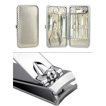 12PCS Stainless Steel Nail Clipper Set with Box - WHITE GOLDEN