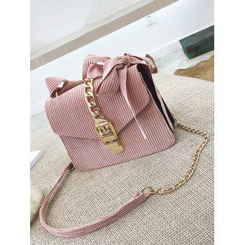 Bow Chain Buckle Strap Crossbody Bag -  PINK