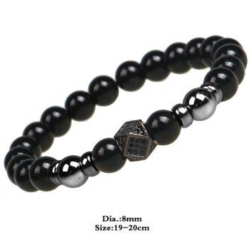 Beads Geometry Shape Prayer Bracelet - BLACK