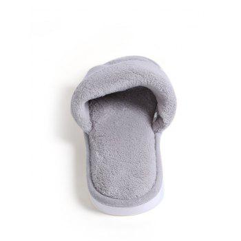 Open Toe Faux Fur House Slippers - GRAY GRAY