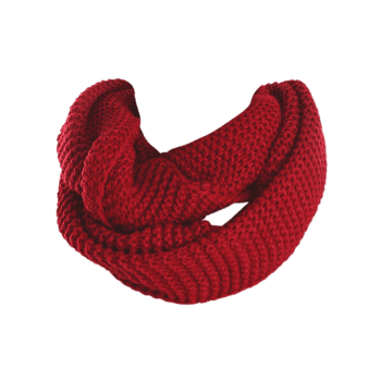 Écharpe en Tricot en Laine Simple Infini - Rouge vineux
