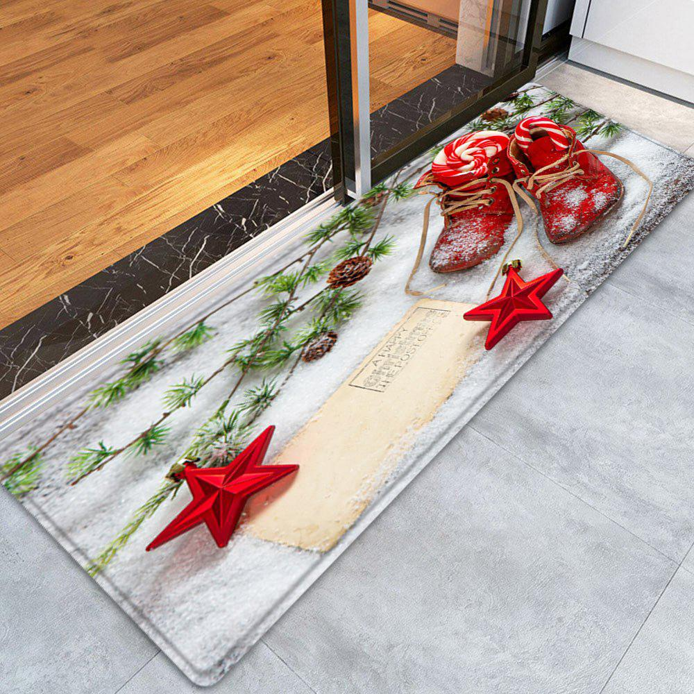 Dog Themed Outdoor Rugs: 2018 Christmas Snowfield Shoes Pattern Indoor Outdoor Area