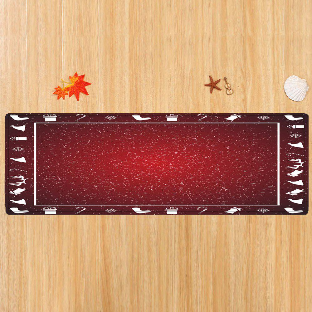 2018 Christmas Theme Pattern Indoor Outdoor Area Rug Red W