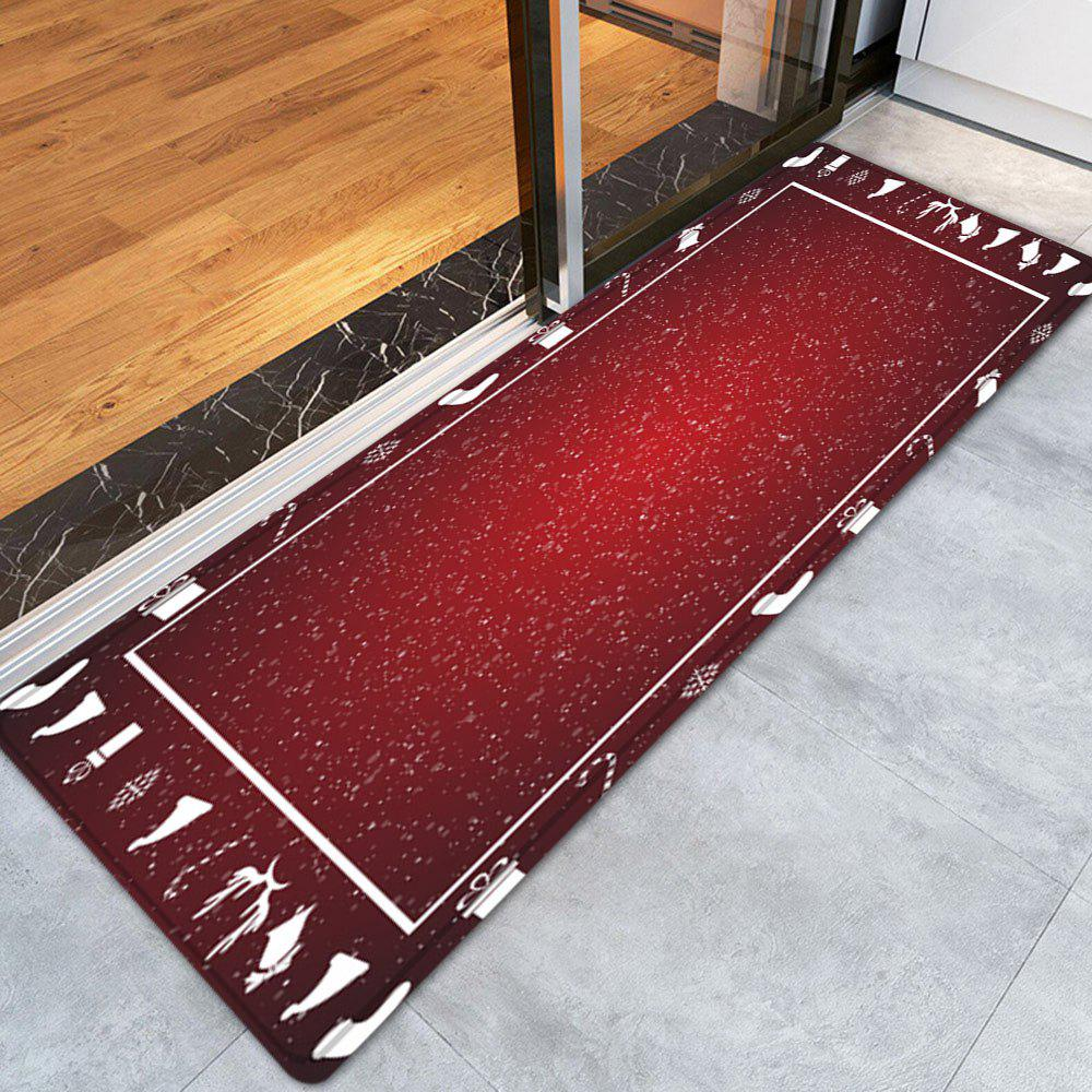 Dog Themed Outdoor Rugs: 2018 Christmas Theme Pattern Indoor Outdoor Area Rug RED W