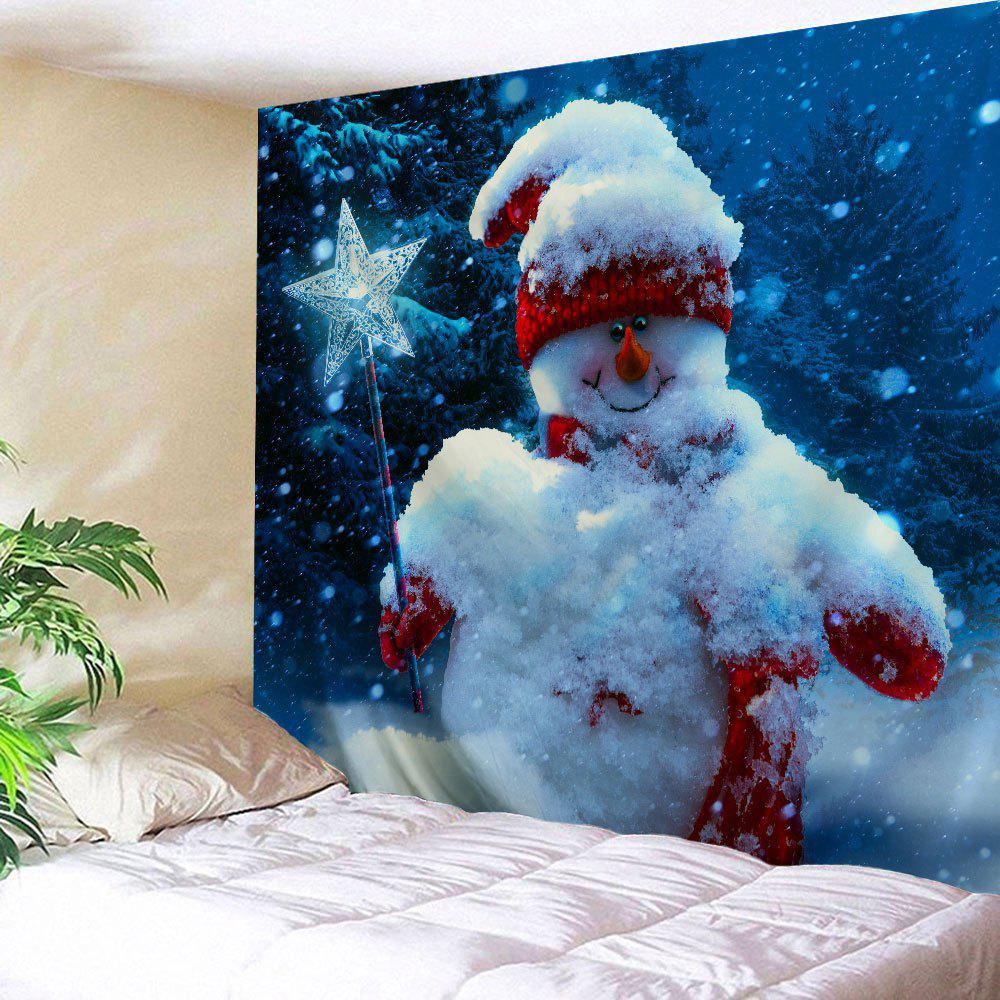 Magic Stick Christmas Snowman Wall Decor Tapestry christmas tree snowman printed wall tapestry