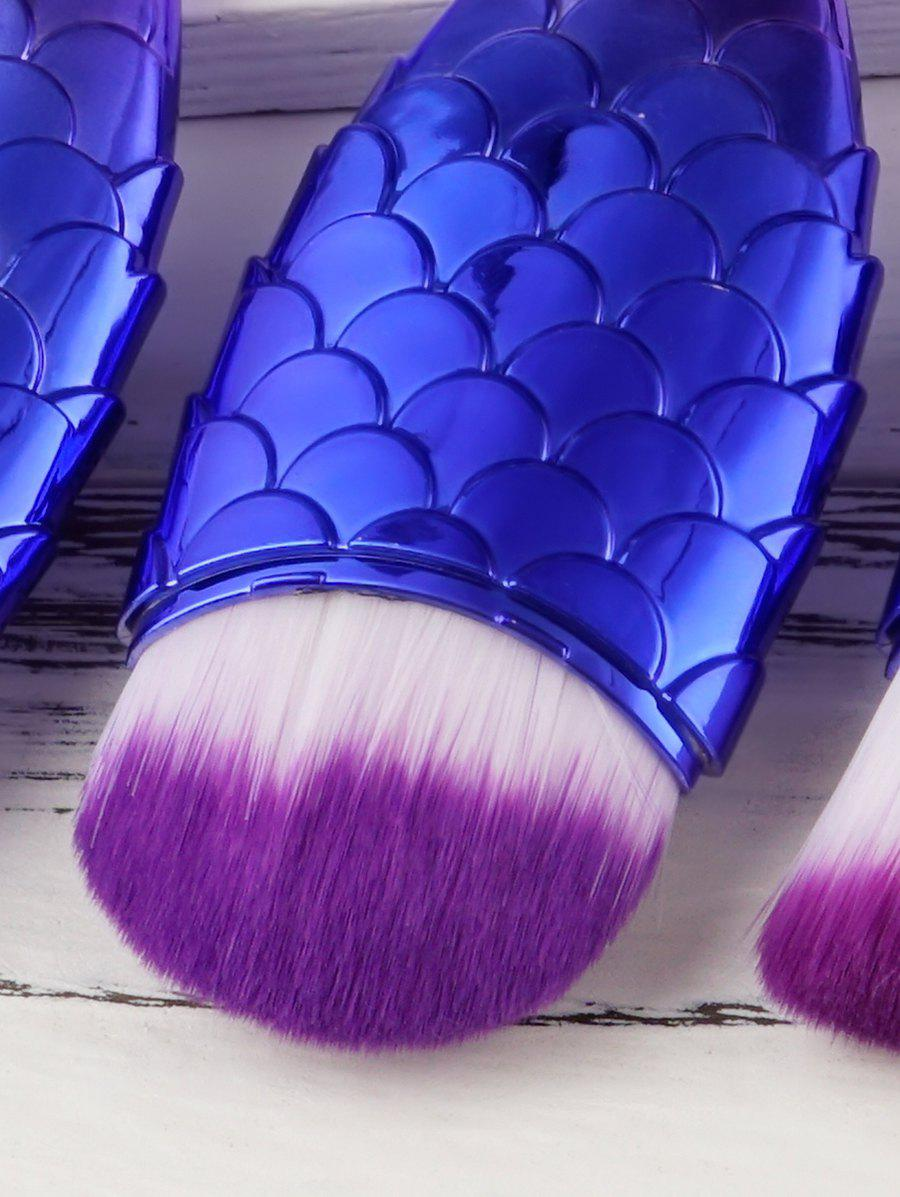 3 PCS Small Fish Makeup Brush Suit - BLUE VIOLET