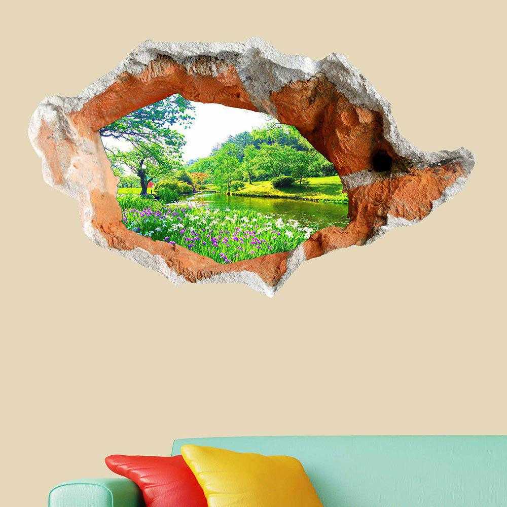 3D Hole Landscape Removable Wall Art Decal family wall quote removable wall stickers home decal art mural