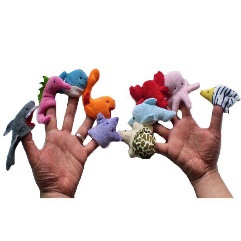 10 Pcs/Set Cute Interesting Cartoon Animal Finger Puppet - COLORFUL