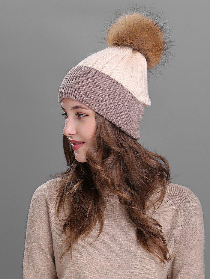 Outdoor Fur Pom Ball Decorated Knitted Beanie 2017 special offer solid new arrival winter fur caps genuine mink women knitted ear hat with fox ball pom poms female hats