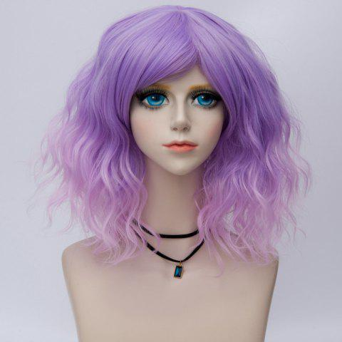 Medium Side Bang Natural Wavy Ombre Synthetic Party Cosplay Wig - JUBILEE