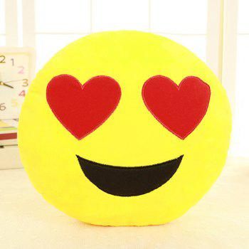 Smile Face Emoticon Pattern Pillow Case - RED RED