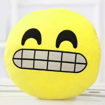 Smile Face Emoticon Pattern Pillow Case - YELLOW/BLACK