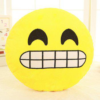 Smile Face Emoticon Pattern Pillow Case - YELLOW AND BLACK YELLOW/BLACK