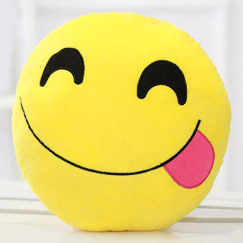 Smile Face Emoticon Pattern Pillow Case - LIGHT ROSE