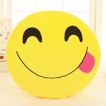 Smile Face Emoticon Pattern Pillow Case - LIGHT ROSE LIGHT ROSE