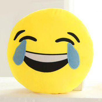 Smile Face Emoticon Pattern Pillow Case - BLUE AND YELLOW BLUE/YELLOW
