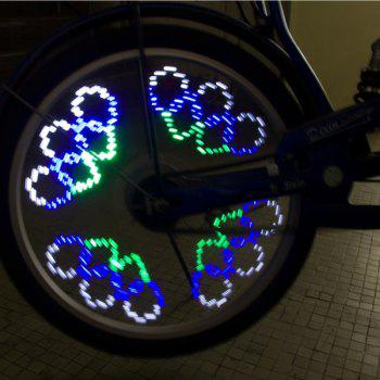 14 LED 40 Colorful Patterns Bike Wheel Light - WHITE