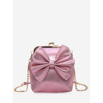 Bow Chain Crossbody Bag - PINK PINK