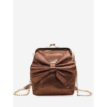 Bow Chain Crossbody Bag - BROWN BROWN