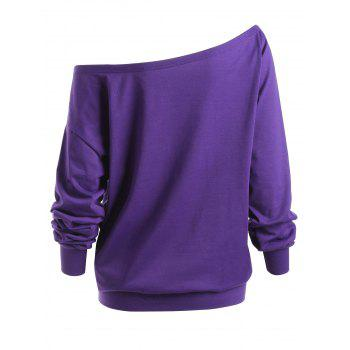 Plus Size Lips Graphic Skew Neck Sweatshirt - XL XL