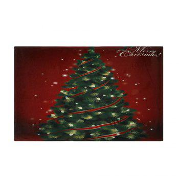 Christmas Tree Pattern Indoor Outdoor Area Rug - COLORMIX W24 INCH * L35.5 INCH