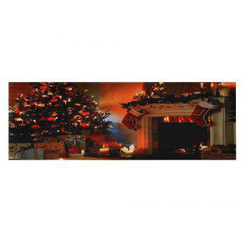 Christmas Tree Fireplace Pattern Indoor Outdoor Area Rug - W24 INCH * L71 INCH W24 INCH * L71 INCH