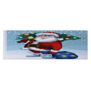 Christmas Santa Tree Pattern Indoor Outdoor Area Rug - COLORMIX W24 INCH * L71 INCH