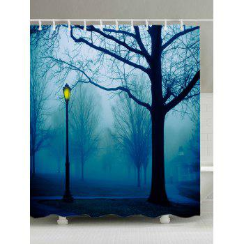 Forest Park Print Fabric Waterproof Shower Curtain - COLORMIX COLORMIX