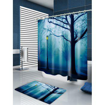 Forest Park Print Fabric Waterproof Shower Curtain - W71 INCH * L71 INCH W71 INCH * L71 INCH