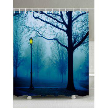 Forest Park Print Fabric Waterproof Shower Curtain - COLORMIX W71 INCH * L71 INCH