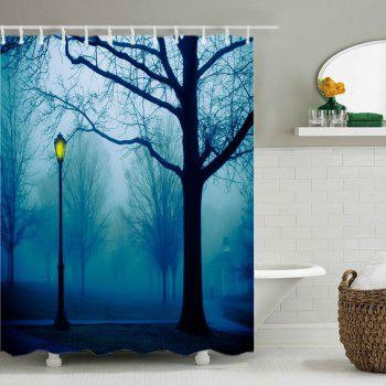 Forest Park Print Fabric Waterproof Shower Curtain - COLORMIX W71 INCH * L79 INCH
