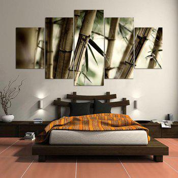 Bamboos Patterned Wall Art Unframed Canvas Paintings - CLOVER CLOVER