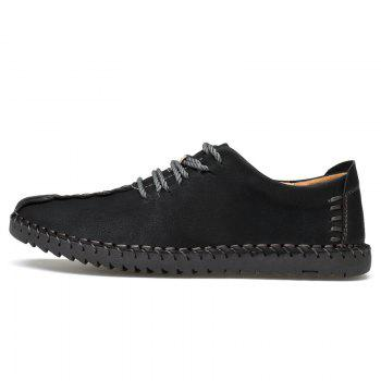 Lace Up Stitching Casual Shoes - 39 39