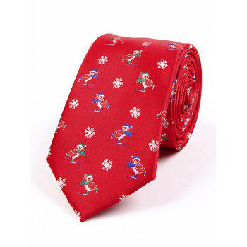 Christmas Element Jacquard 7.5CM Width Tie - RED RED