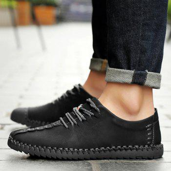 Lace Up Stitching Casual Shoes - 41 41
